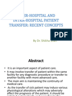 Inter-hospital and Intra-hospital Patient Transfer
