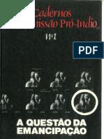 Cadernos da Comissão Pró Índio n°1 1979