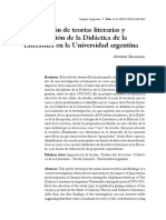 Ingaramo Teoría Literaria Didáctica y Universidad