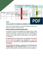 Evaluación de Peligros en Minería Subterranea
