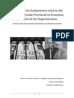 Análisis Comparativo de Los Fundamentos Teóricos Del Diseño Curricular Provincial en Economía y Gestión de Las Organizaciones
