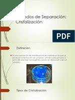 Métodos de Separación- Cristalizacion