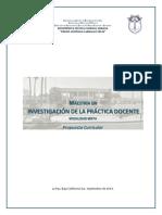 Propuesta Curricular Maestría en Invest.de La Pract. Docente, 2014-2016