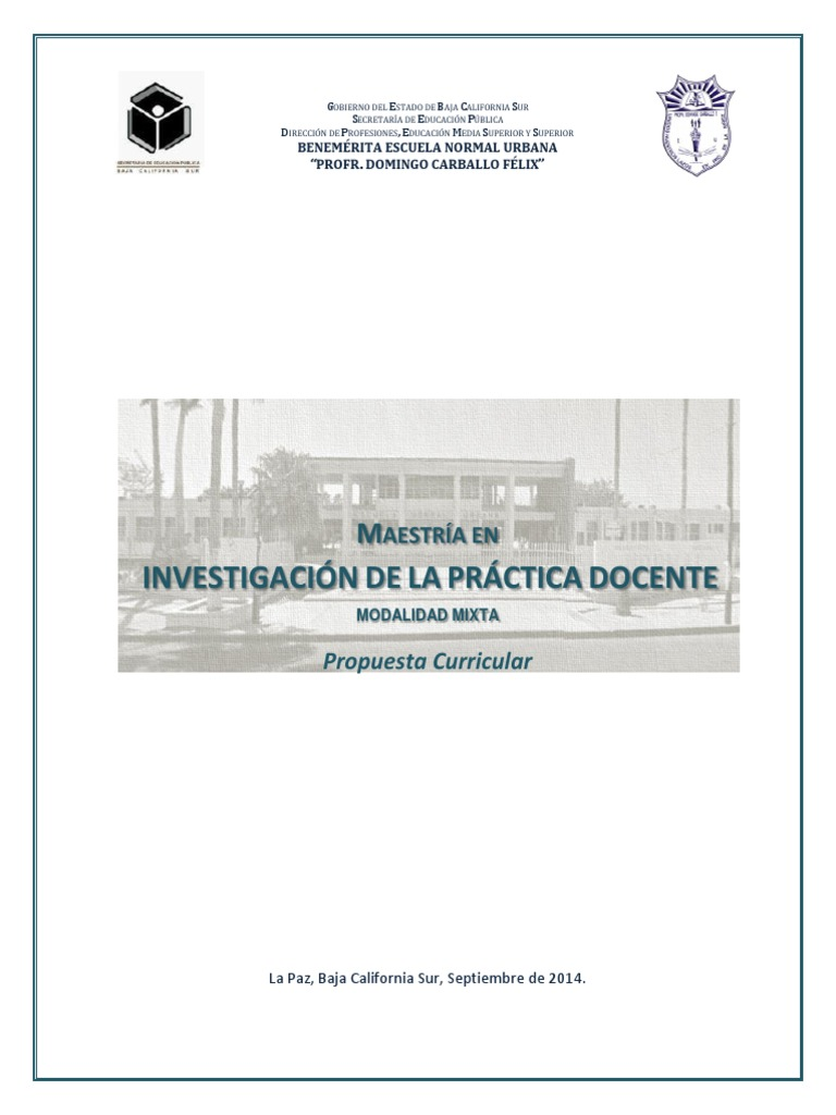 Calendario Academico Ucm 2020 2020.Propuesta Curricular Maestria En Invest De La Pract Docente 2014 2016