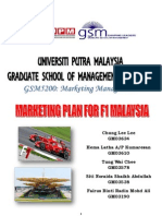 Marketing Plan for F1 Malaysian GP 2010