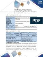 Guía de Actividades y Rúbrica de Evaluación – Paso 2 Conectivos Lógicos y Teoría de Conjuntos