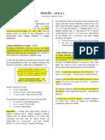 Artigos e Substantivos em Inglês