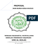 Cover Proposal Pembentukan Bursa Kerja