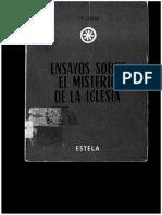 CONGAR, Y. M. J., Ensayos Sobre El Misterio de La Iglesia, Estella, 2 Ed, 1962 (Cap. La Idea de I. en Sto. Tomas)