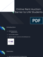 Online Rent Auctions and Student Housing