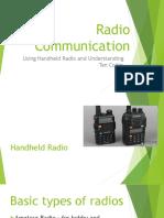 Handheld Radio and 10 Codes