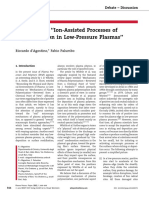 Comment on Ion-Assisted Processes of Polymerization in Low-Pressure Plasmas