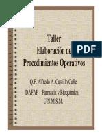 Taller de Elaboracion Procedimientos Sistemasticos Operativos PSO