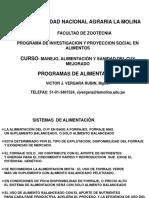 Programas de Alimentación - Ing. Victor Vergara