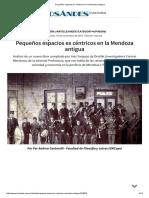 Pequeños Espacios Ex Céntricos en La Mendoza Antigua