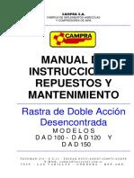 manual de instrucciones repuestos y mantenimiento