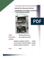 informe de mediciones electronicas