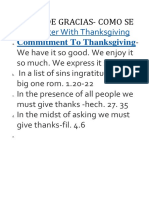 Accion de Gracias