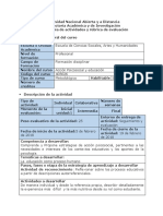 Guía de Actividades y Rúbrica de Evaluación-Reconocimiento. Reflexionar Sobre Los Procesos Educativos a Partir La Autorreferencia