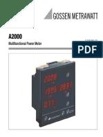 A2000 Multifunctional Power Meter