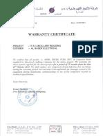 Warranty Certificate_LV Switchgear