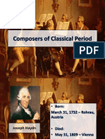 Composers of Classical Period