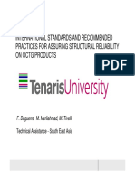 TENARIS UNIVERSITY - INTERNATIONAL STANDARDS AND RECOMMENDED PRACTICES FOR ASSURING STRUCTURAL RELIABILITY ON OCTG PRODUCTS