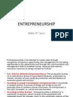 Entrepreneurship Mba 4th Sem Unit 1