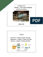 Materials for Engineering 16 - Aluminum