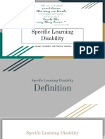 specific learning disability presentation- eduu 511-2