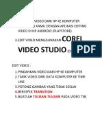 tugas Editing Video