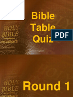 Bible Table Quiz 01