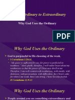 Why God Uses the Ordinary