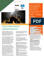 Newsletter Sholat Gerhana Bulan FIX