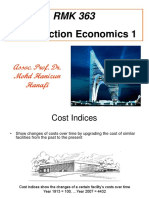 Lecture (3) Cost Indices