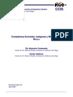 Castaneda Alejandra & Saldivar Emiko (2001) Ciudadanias Excluidas. Indigenas y Migrantes en Mexico