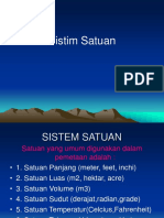 Sistem Satuan