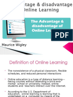 The Benefits of Online Learning- Maurice Wigley