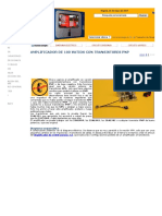 Amplificador de 100 Vatios Cuasicomplementario PNP