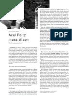 Axel Reitz muss sitzen - Ein Prozessbericht LOTTA #21