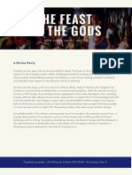 An analysis of the Feast of the Gods