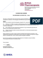 Letter of Intent Chlorhexidine Gluconate Gel