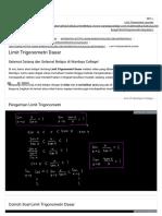 Rumus Limit Trigonometri Dasar