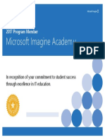 ImagineAcademy Institution Certificate