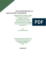 Aprendizaje Autonomo en La Educacion a Distancia