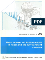 IAEA Measurement of Radionuclides in Food