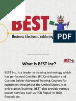 BGA Rework | Hand Soldering | IPC Certification - PPT