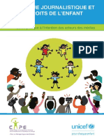 Guide sur l'éthique journalistique et les droits de l'enfant,
