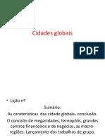cidades globais