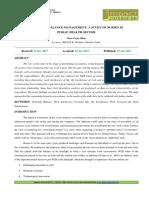 14. Hum-work-life Balance Management a Studyof Nurses in Public Health Sector
